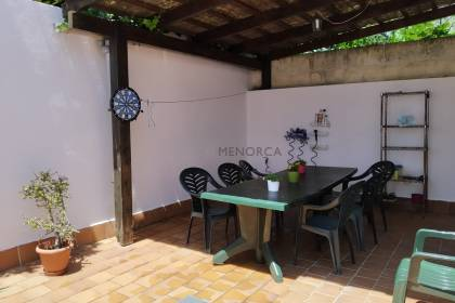 5 bedroom townhouse in Sant Lluís with patio. Sold furnished.