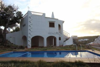 Detached house with sea views in Cala Morell, Menorca