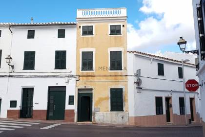 Town house with patio and vegetable garden in Alaior.