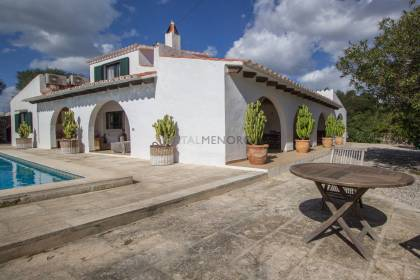 Country house with pool for sale in Trebaluger, Es Castell