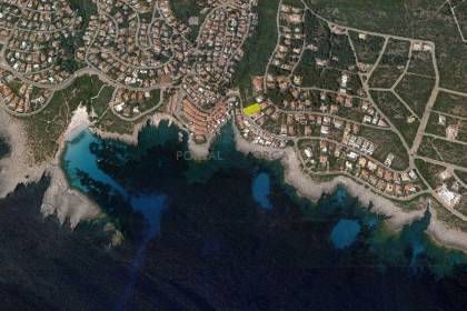 Plot of land with sea views for sale in S'Atalaia, near Binibeca Nou
