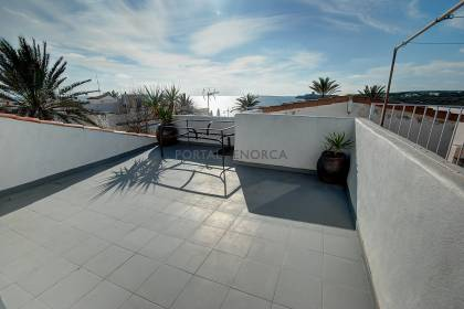 2 bedroom apartment in S'Algar with private roof terrace and sea views.