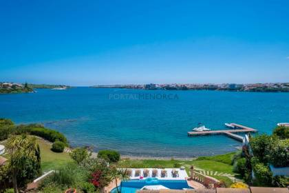 Stunning five bedroom four bathroom front line villa on the harbour of Mahon.