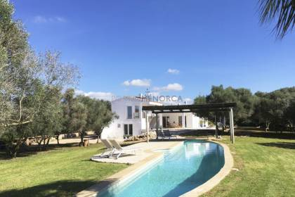 Modern country house very near the beaches of Ciutadella's southern coast