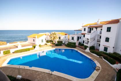 Apartment with sea view and pool in Playas de Fornells, Menorca